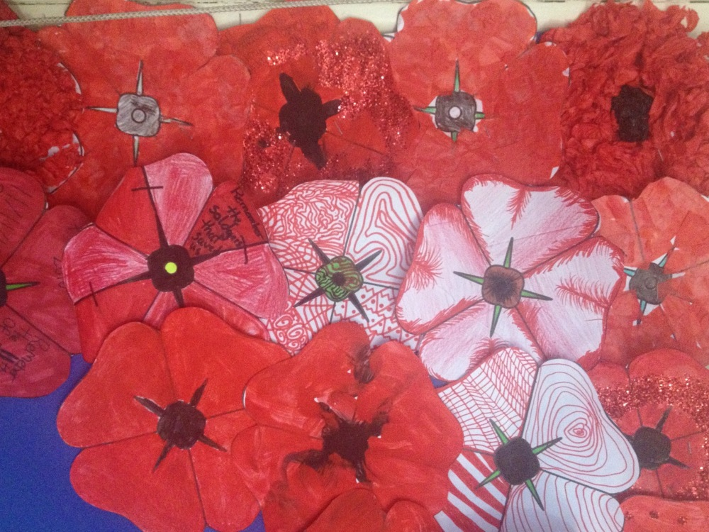 Red Poppies Collage